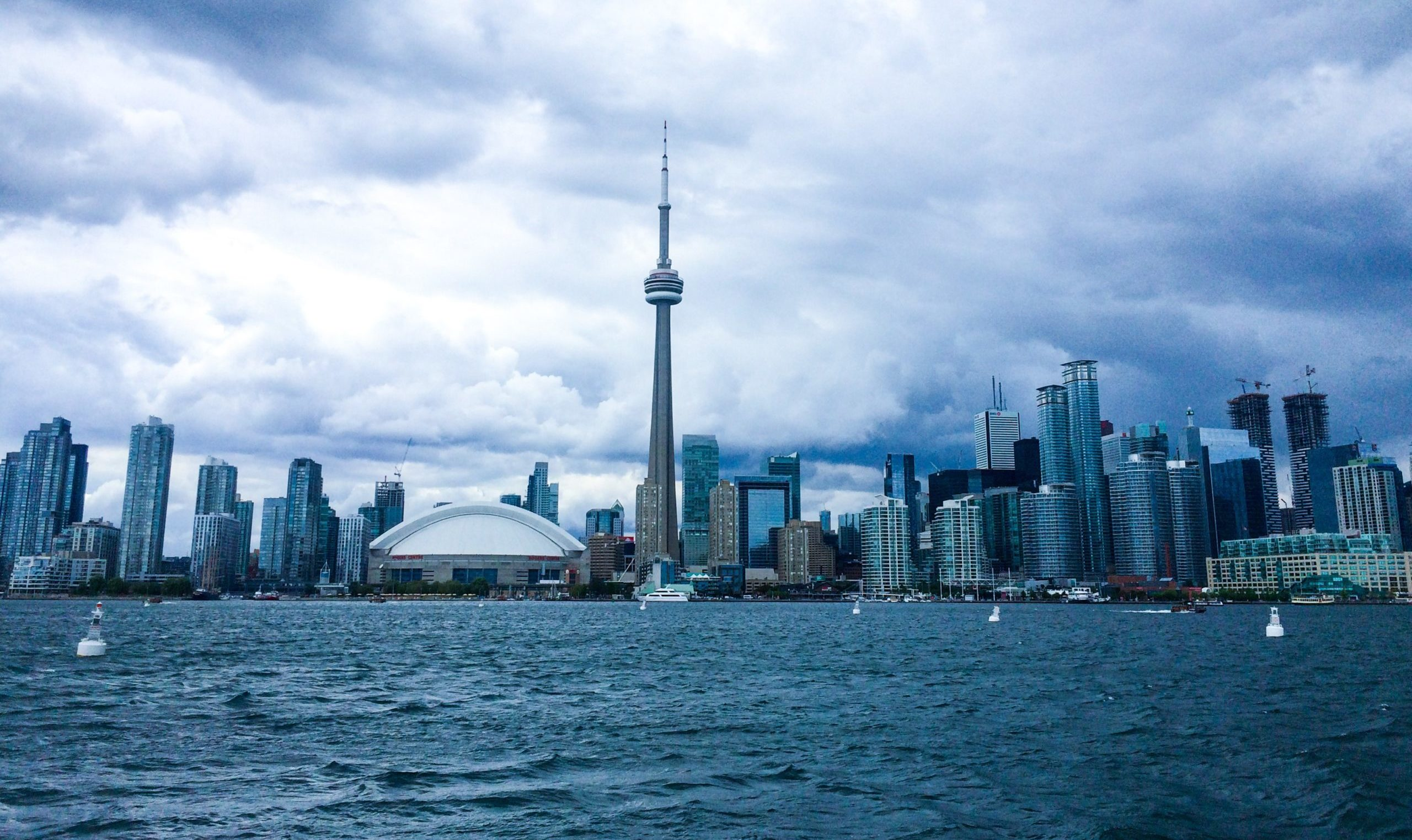 View of Toronto skyline from Lake Ontario