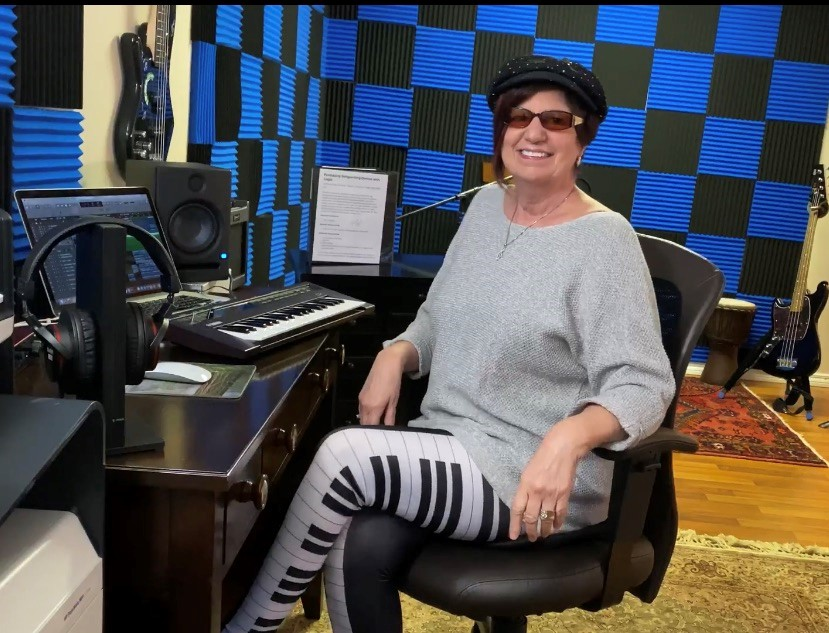 Gail Taylor in the recording studio