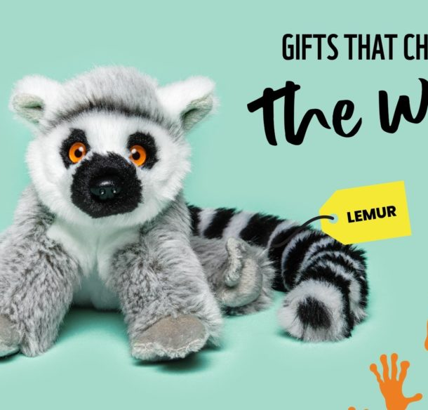 Lemur plush with tagline Gifts that Change the World